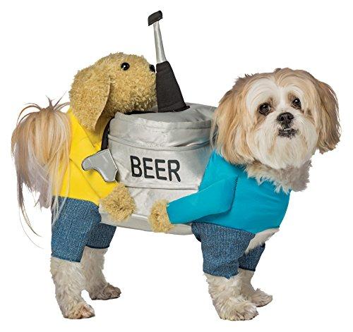 Beer Keg Outfit Funny Theme Party Fancy Dress Halloween Pet Dog Costume, L -