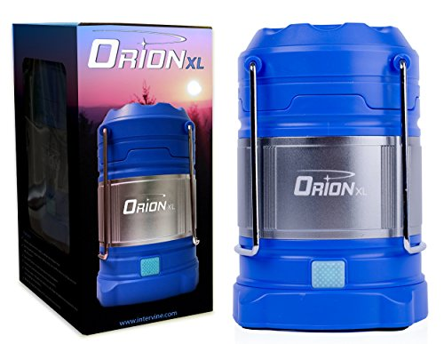Supernova Orion Ultimate Survival Rechargeable LED Camping Lantern and Power Bank - Most Versatile, Brightest Lantern For Emergency, Recreation & Hiking Lantern Available (XL - Celestial Blue) (Led Rechargeable Lantern)
