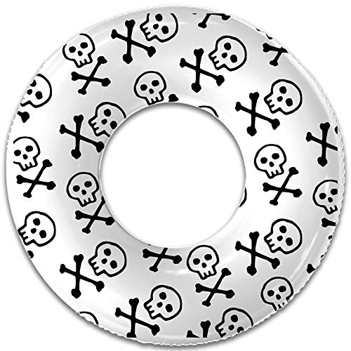 - Float Naked - Skull and Bones Pool Float - Inflatable Rafts, Adults & Kids - Patch Kit Included - #1 Summer Pool Party Pool Float!