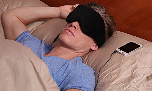 1 Voice Sleep Headphones Eye Mask, Black