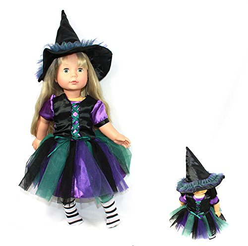 Arianna Coven Witch 3pcs Doll Costume Fits 18 inch American Girl Doll  18 inch Doll clothes   Boutique Quality She's Worth it!   Designed In USA Fit 18 Inch Dolls by Arianna (Image #4)