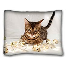 """Custom ( Animals kitten toyss down fabric ) DIY Pillow Cover Size 20""""X26"""" suitable for California King-bed"""