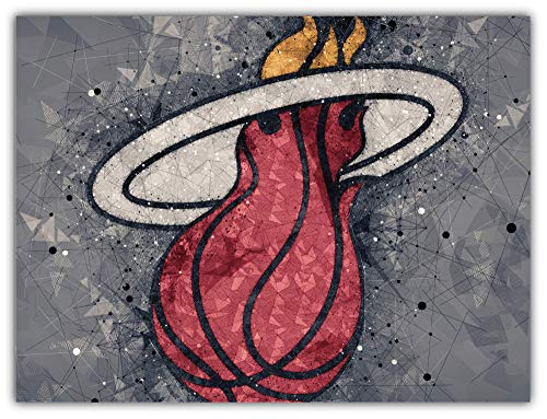 - skyhighprint - Miami Heat NBA Sport Decor Vinyl Print Sticker 5'' X 4''