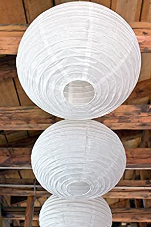 Spring Rose(TM) Huge 16 Inch White Chinese Paper Lanterns (Set of 10). These Are Gorgeous Decorations for Any Event, Wedding, or Party. Make Your Next Reception Something to Remember.