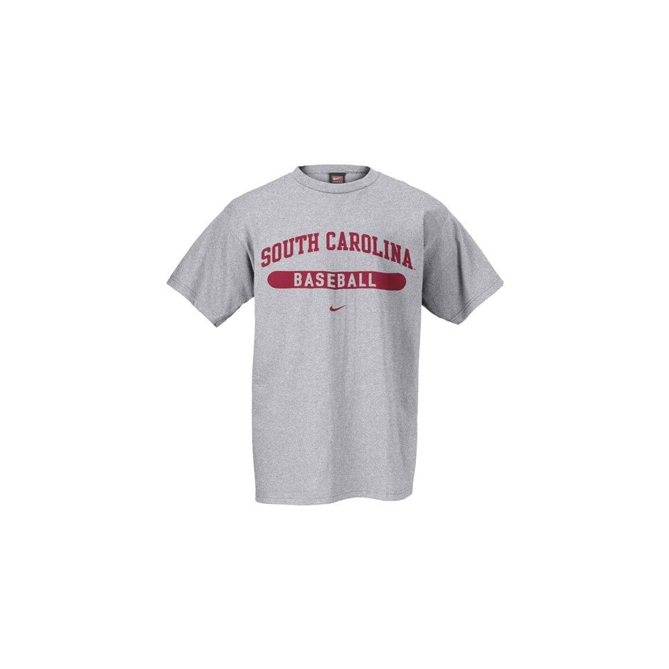 Nike South Carolina Gamecocks Ash Baseball T shirt