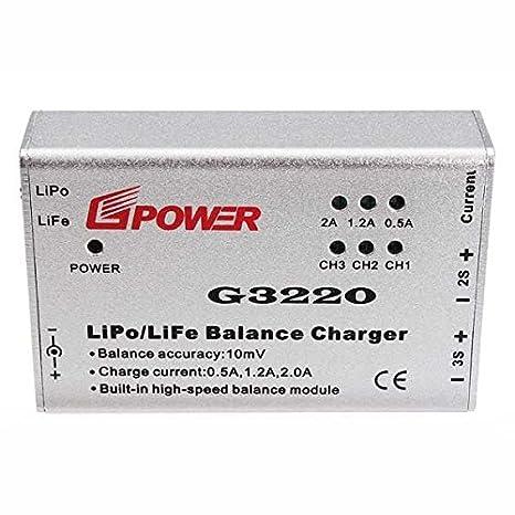 amazon com g3220 lipo life balance charger for parrot ar drone 2 0 rh amazon com