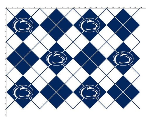 Pennsylvania State University Diamonds Fleece Fabric - Sold By the Yard ()