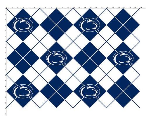 Pennsylvania State University Diamonds Fleece Fabric - Sold By the Yard