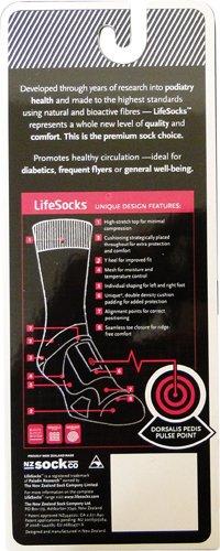 LifeSocks BasePlus Women's Merino Socks with Seacell Active, Black, Medium