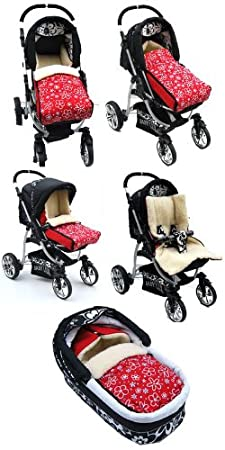 Babylux Fußsack Lammwolle 90cm Winterfußsack Kinderwagen Babyschale Fußsack Braun Baby
