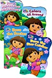 Nickelodeon Dora The Explorer Board Books for Kids Toddlers ~ Bundle of 4 Dora Board Books with 300 Bonus Dora The Explorer Stickers (Dora Board Books)