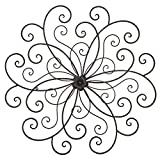 Adeco DN0014 Bronze Flower Urban Design Metal Wall Decor for Nature Home Art Decoration & Kitchen Gifts, Bronze