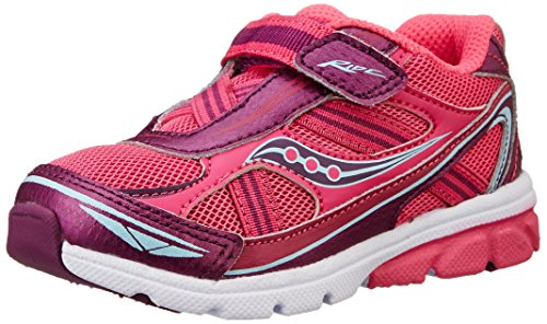 Saucony Girls' Baby Ride Sneaker (Toddler/Little Kid),Pink/Purple,7 XW US Toddler
