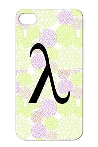 Lamda Symbol Letter Symbols Shapes Black For Iphone 4s Cover Case