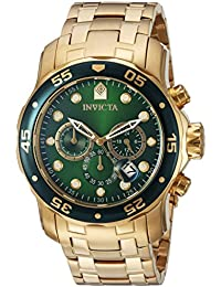 Men's 0075 Pro Diver Chronograph 18k Gold-Plated Watch