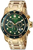 Invicta Men's 0075 Pro Diver Chronograph 18k Gold Plated Watch