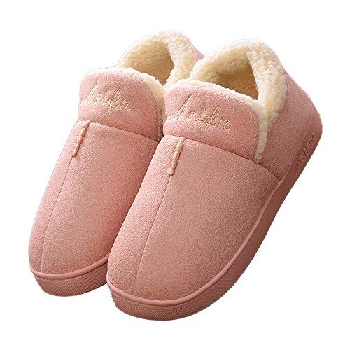 A Antiscivolo Suola Rosa Cotone Uomo Confortevole Unisex Morbida Donna Maglia Pantofole Caldo Lavorato Casa Customer 0TAqXH0