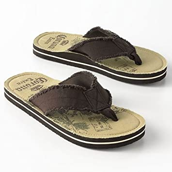 c67070c29d2 Image Unavailable. Image not available for. Color  Corona Extra Palm Tree  Flip-Flops (with built-in bottle ...
