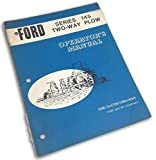 Ford Series 145 Two-Plow Operators Owners Manual Setup Operation Assembly Adjust