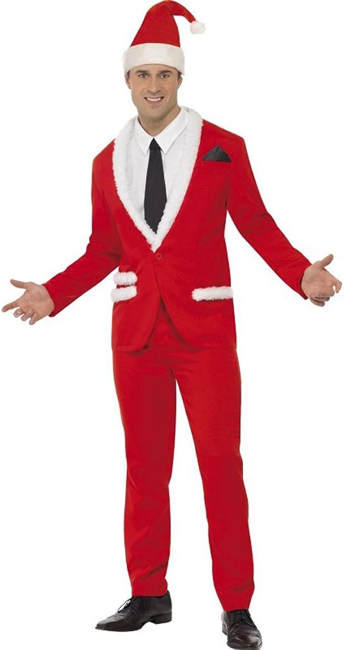 Mens Christmas Mr Cool Santa Suit Costume Fancy Dress: Amazon.es ...