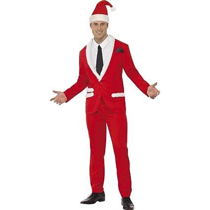 Traje de Papa Noel de Hombre para Navidad: Amazon.es ...