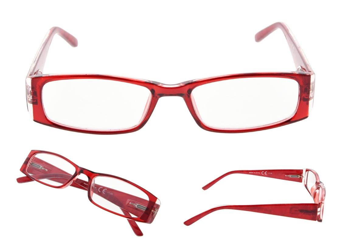 READING GLASSES 4 Pack Marble Pattern Arms Readers for Women +2.00