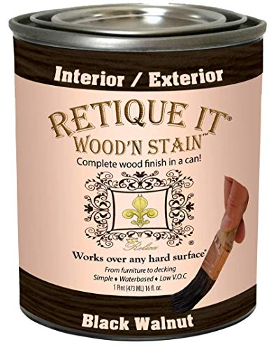 Wood'n Stain Gel Stain with Liquid Wood by Retique It (16 oz (Pint), 92 Black Walnut)