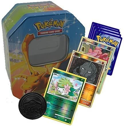 Pokemon Starter Collection 50 Cards including Holos /& Rares in Tin