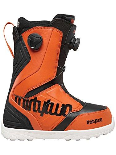 thirtytwo Lashed Double Boa Snowboard Boot - Men's Black/Orange, 11.0 ()