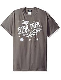 Star Trek The Original Sci-Fi TV Series Retro Enterprise In Space Adult T-Shirt