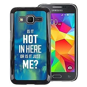 A-type Arte & diseño plástico duro Fundas Cover Cubre Hard Case Cover para Samsung Galaxy Core Prime (Hot Text Quote Blue Green Funny Sexy)