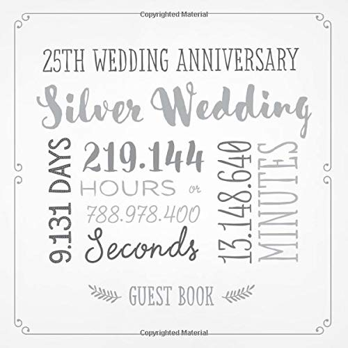 25th WEDDING ANNIVERSARY Silver Wishes PAPER TABLE COVER ~ Party Supplies Cloth