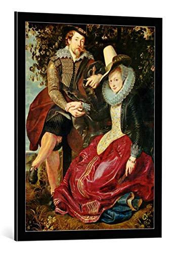 - kunst für alle Framed Art Print: Peter Paul Rubens Painter his Wife Isabella Brant Honeysuckle... - Decorative Fine Art Poster, Picture with Frame, 23.6x31.5 inch / 60x80 cm, Black/Edge Grey