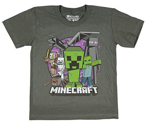 Minecraft Evil Mob Boys Youth T-shirt (Medium, 8) (Minecraft Kids Hoodie)