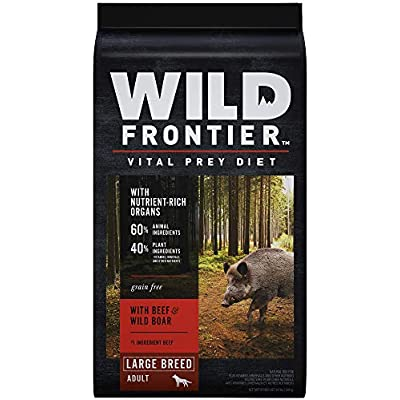 WILD FRONTIER VITAL PREY Adult Large Breed Dry Dog Food with Beef & Wild Boar, 24 Pound Bag