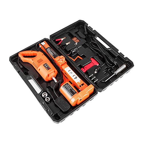 BestEquip Electric Car Jack 3 Ton 6600 LB Electric Scissor Jack 12V DC with Electric Impact Wrench Car Repair Tool for Sedans and Trucks by BestEquip