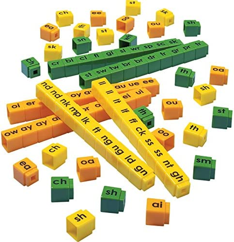 Unifix Letter Blends Cubes Set manipulative for reading