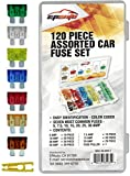 120 Pieces - EPAuto Assorted Car Truck Standard Blade Fuse Set (5 / 7.5 / 10 / 15 / 20 / 25 / 30 AMP)