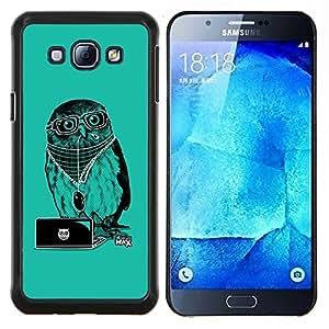 LECELL--Funda protectora / Cubierta / Piel For Samsung Galaxy A8 A8000 -- Enfriar Party DJ Búho --