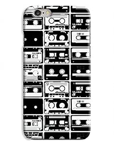 Black and White Cassette iPhone 6 Plus Hard Case Cover
