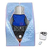 MegaBrand 2L Portable Steam Sauna Tent SPA Detox Weight Loss w/ Chair Blue