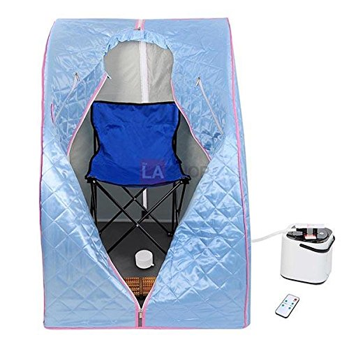 MegaBrand 2L Portable Steam Sauna Tent SPA Detox Weight Loss w/ Chair Blue by MegaBrand