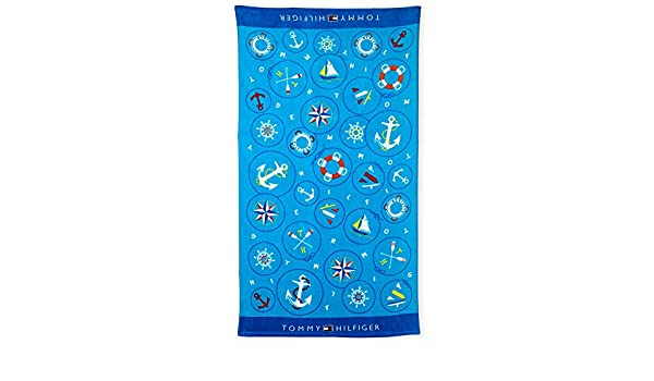 Toalla de playa Tommy Hilfiger Nautical Íconos (87 x 165 cm): Amazon.es: Hogar