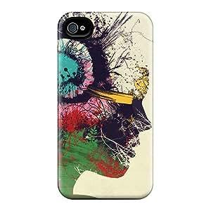 Fashion Tpu Case For Iphone 4/4s- Artist Portrait Defender Case Cover
