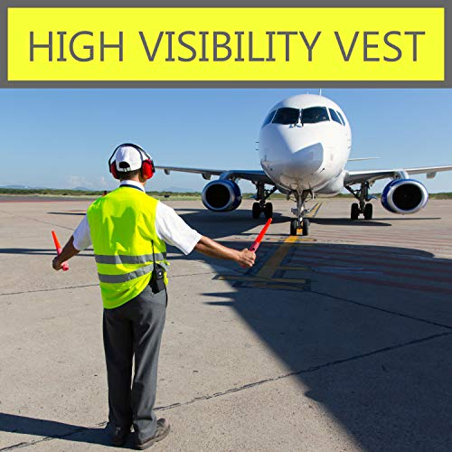 Pack of 20 Bright Construction Vests Yellow Safety Reflector Vests bulk, with Visibility Strip, Perfect for Warehouses, Traffic and Parking Patrol by Upper Midland Products by Upper Midland Products (Image #2)