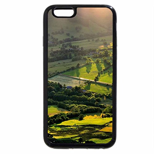 iPhone 6S Case, iPhone 6 Case (Black & White) - amazing sunshine on farms in the valley
