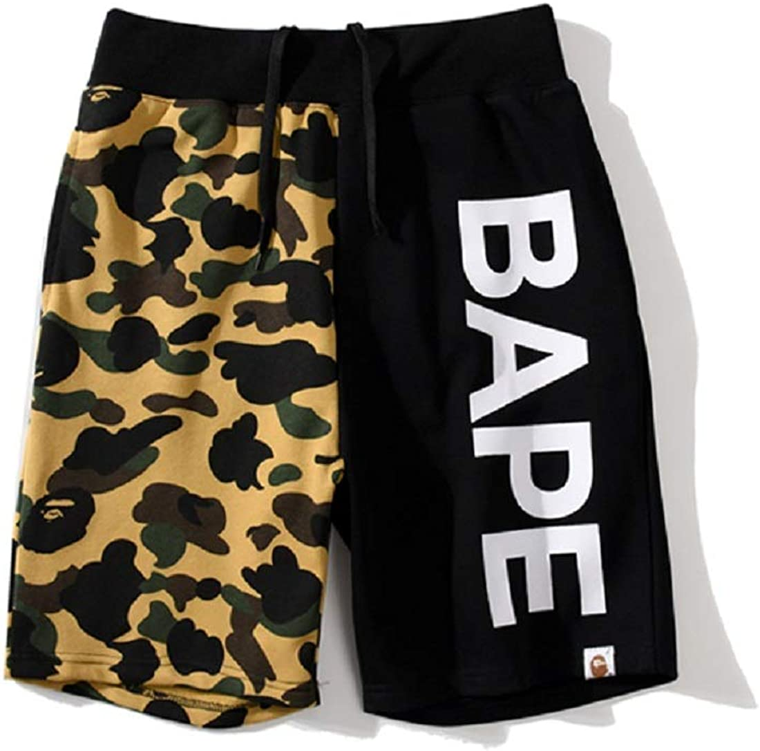 UOREHM Bape Ape Camo Shark Teenage Adult Sports Shorts Men Women Fashion Joggers Pants