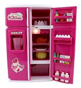 Dream kitchen mini refrigerator pink toy for Kitchen set wala game