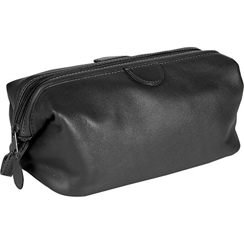 Royce Deluxe Toiletry Bag - Leather - Black - Black by Royce Leather