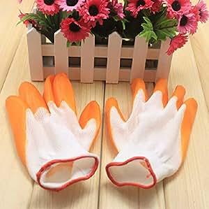 Guantes de jardinería de goma de nitrilo de nailon, guantes de trabajo de seguridad